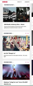 Ian Erix featured on Vevo Front Page with Alesso and Madonna!!!