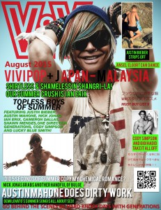 Ian Erix on the cover of ViviPop+ Magazine